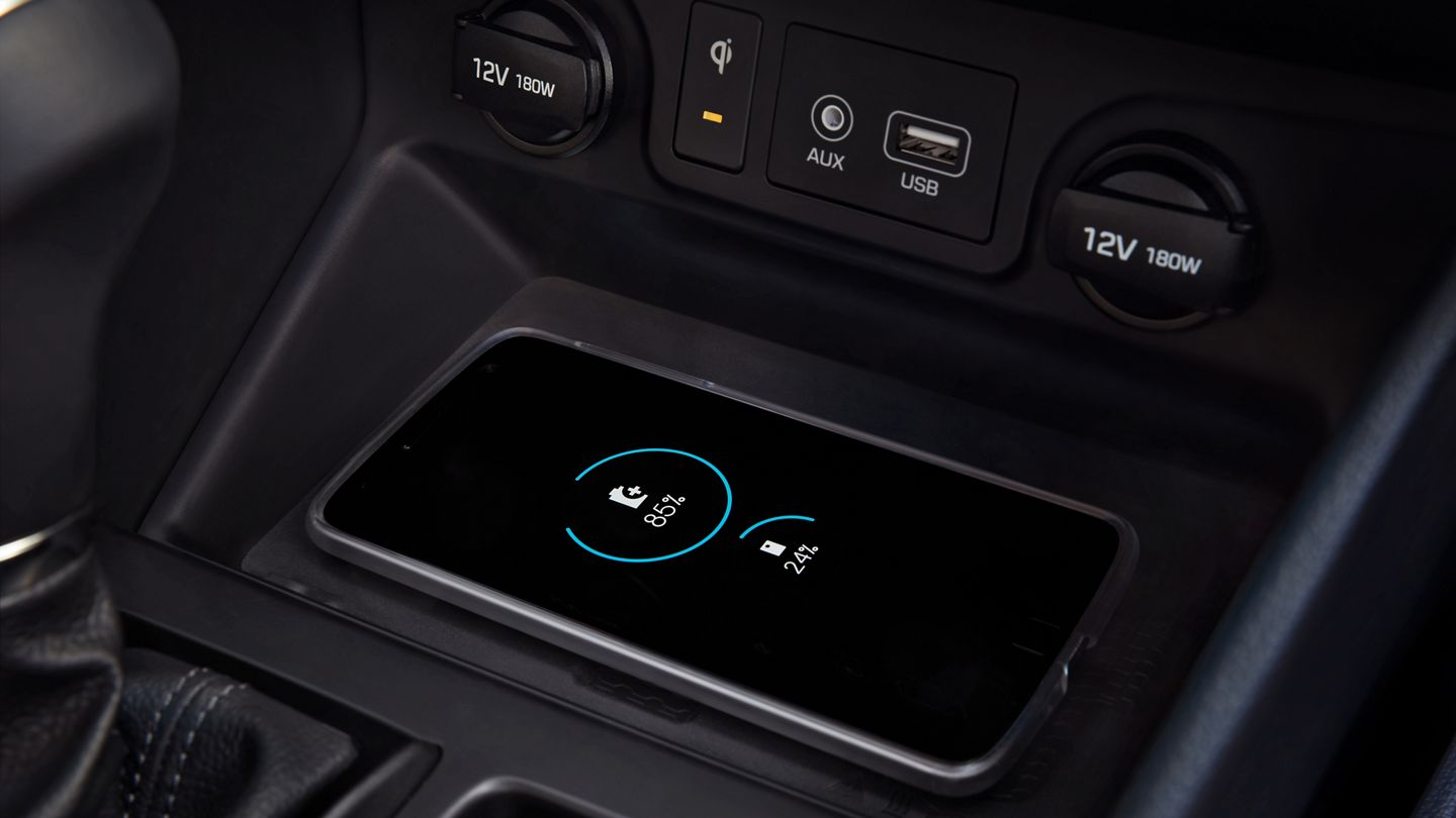 Wireless Charger in the 2020 Tucson
