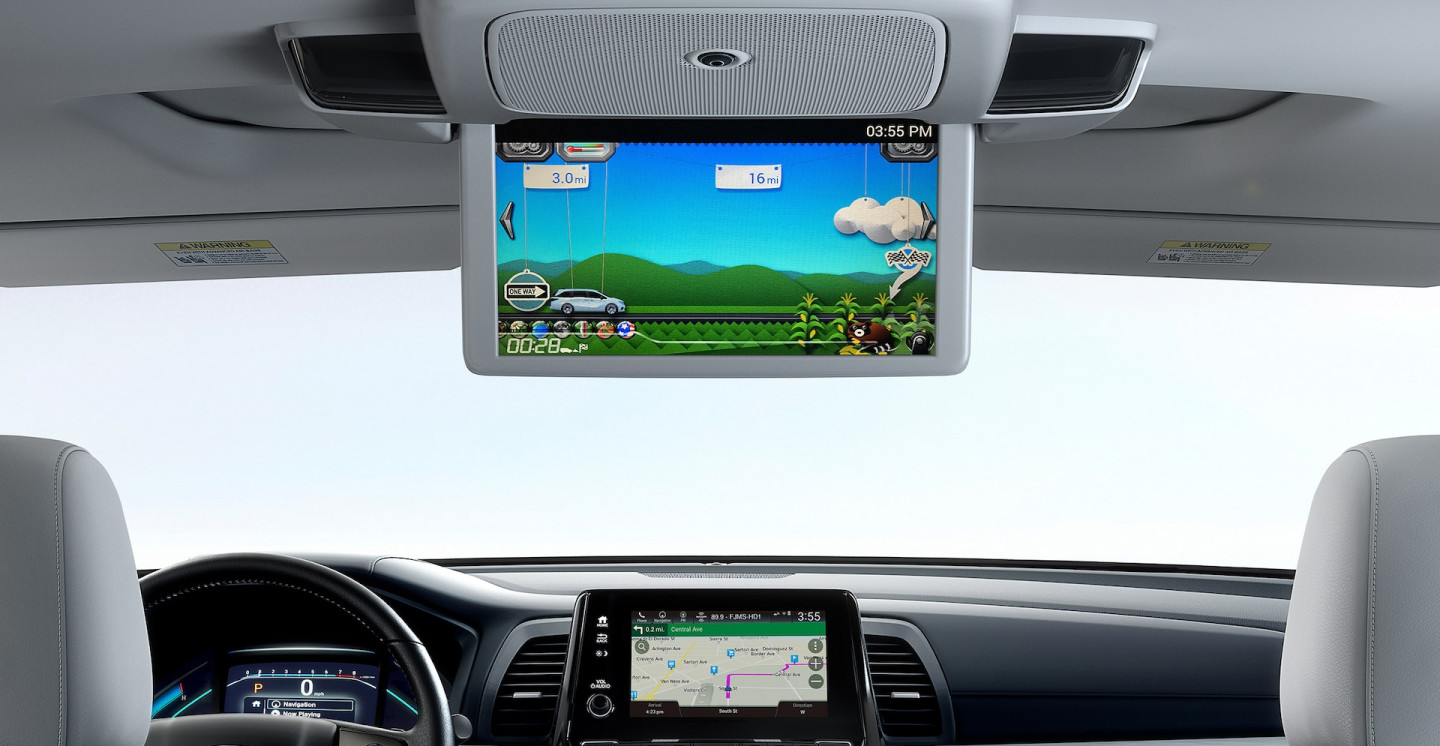 Rear Entertainment System in the 2020 Odyssey