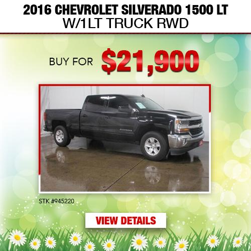 $21,900 Purchase Offer on a Used 2016 Chevrolet Silverado 1500 LT W/1LT Truck RWD