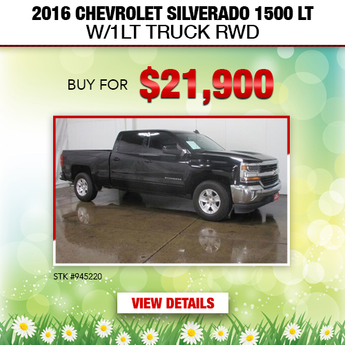 $21,900 Purchase Offer on a Used 2016 Chevrolet Silverado 1500 LT W/1LT Truck RWD
