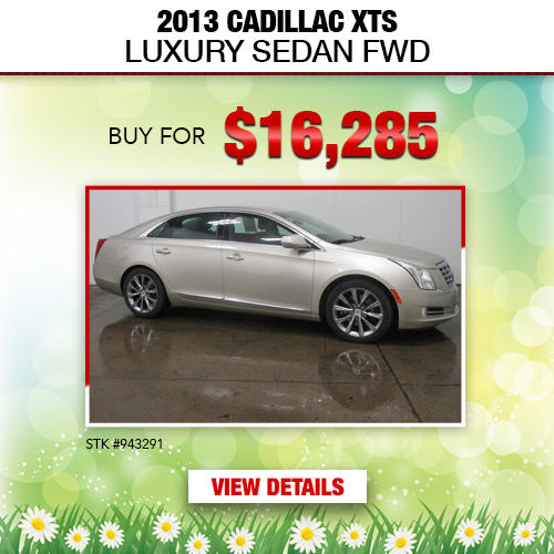 $16,285 Purchase Offer on a Used 2013 Cadillac XTS Luxury Sedan FWD