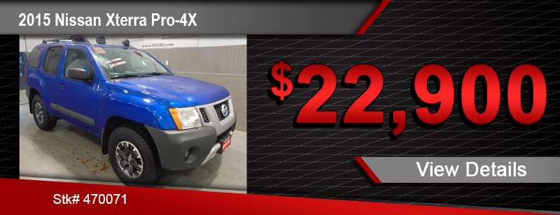 $22,900 Purchase Offer on a Used 2015 Nissan Xterra Pro-4x
