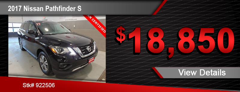 $18,850 Purchase Offer on a Used 2017 Nissan Pathfinder S