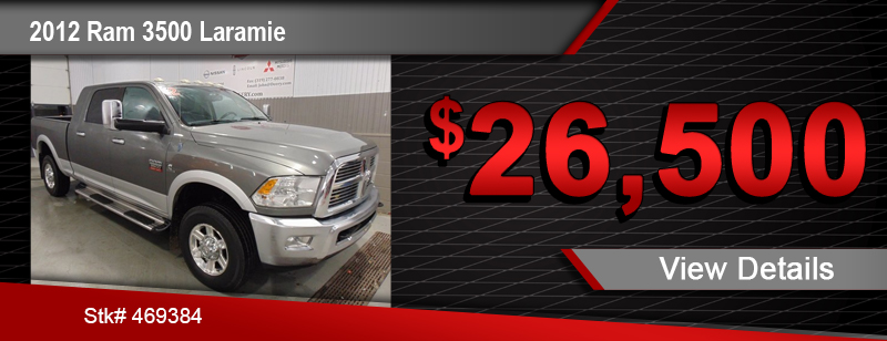 $26,500 Purchase Offer on a Used 2012 Ram 3500 Laramie