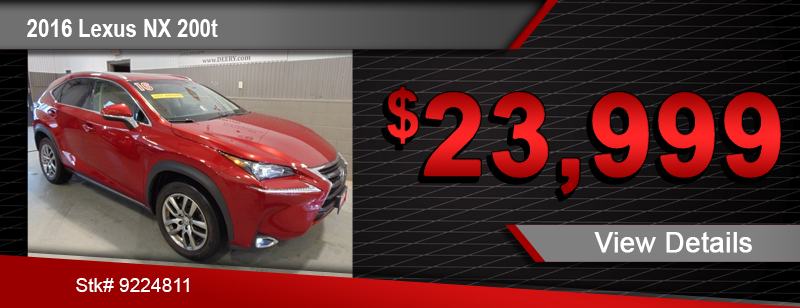 $23,999 Purchase Offer on a Used 2016 Lexus NX 200t