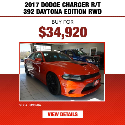 $34,920 Purchase Offer on a Used 2017 Dodge Charger R/T 392 Daytona Edition RWD