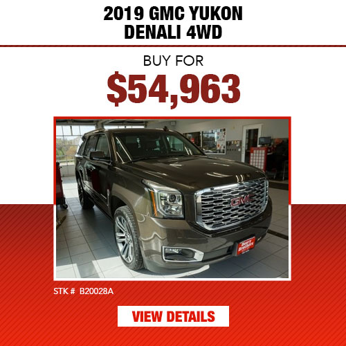 $54,963 Purchase Offer on a Used 2019 GMC Yukon Denali 4WD