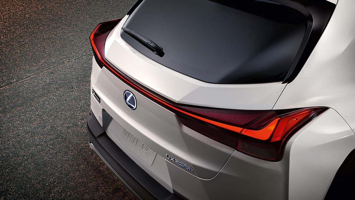 Aerodynamic Taillamps on the 2020 Lexus UX 250h