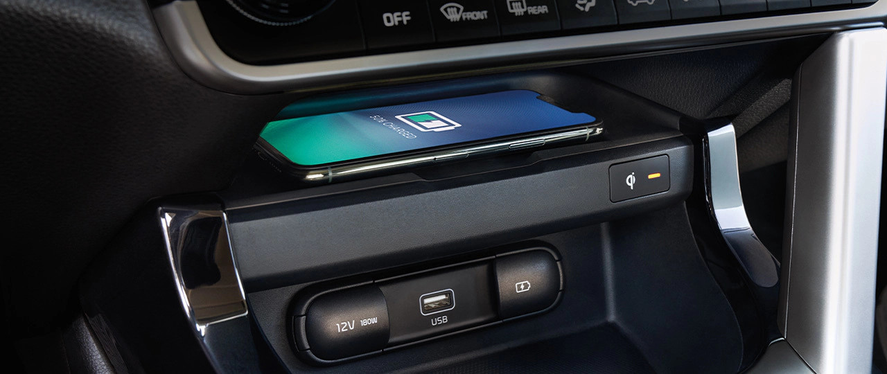 2021 Kia Seltos Available Wireless Charger