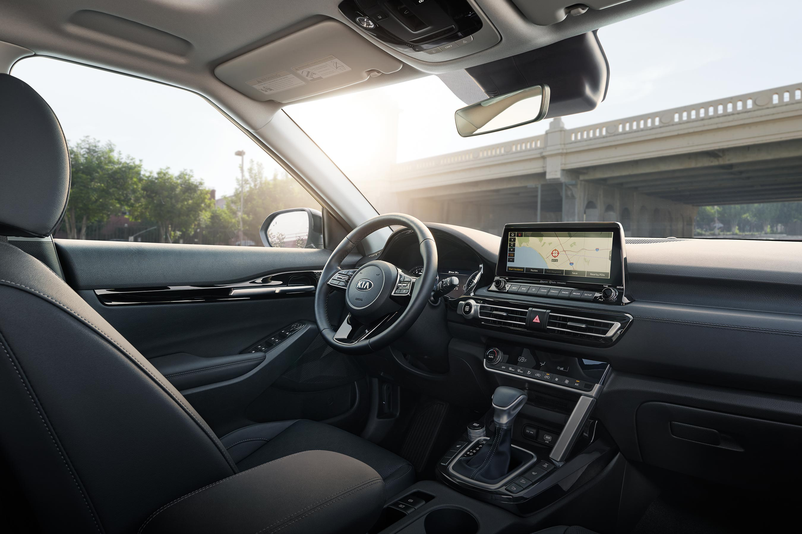 Interior of the 2021 Kia Seltos