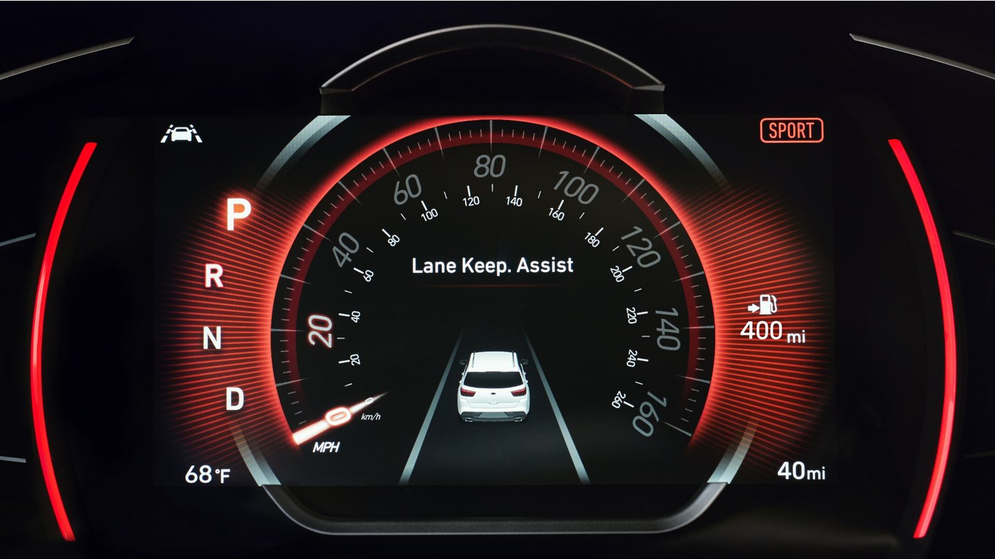 Lane Keep Assist Display in the 2020 Santa Fe