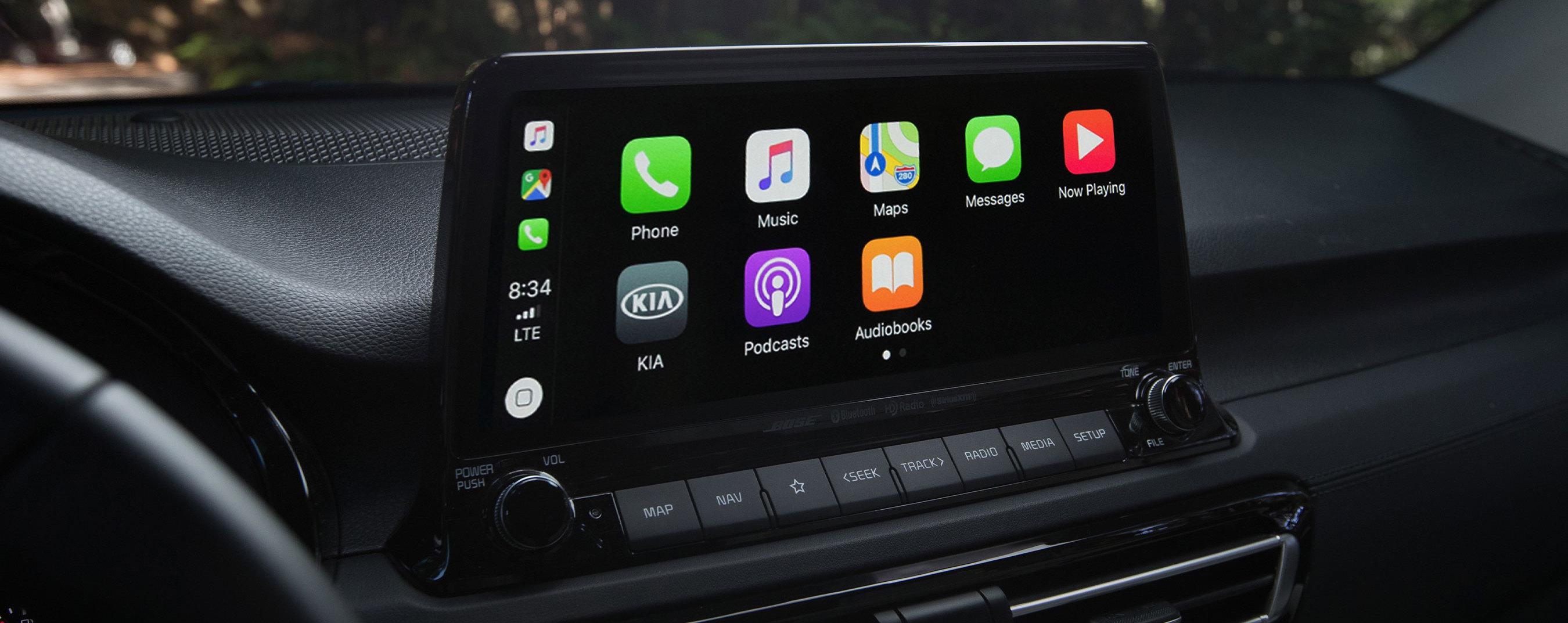 Touchscreen in the 2021 Seltos