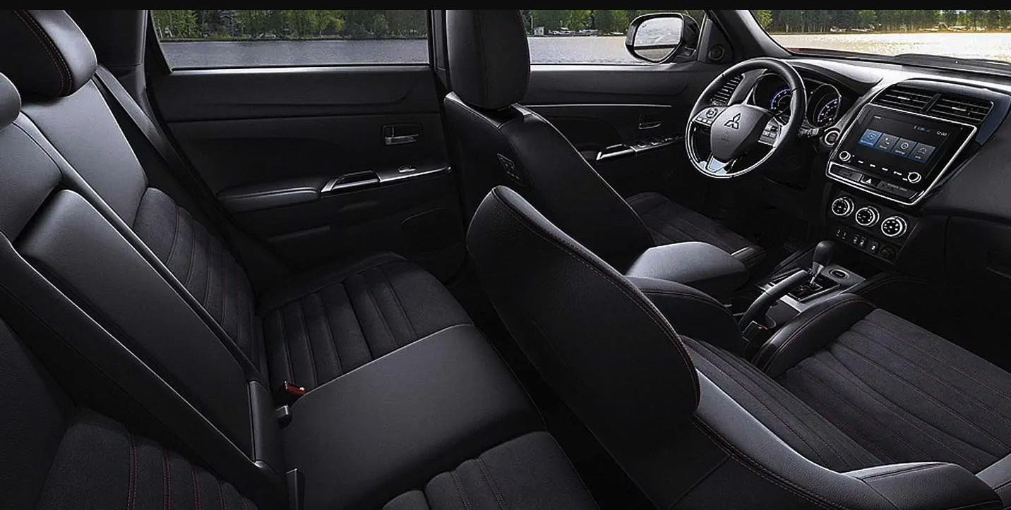 Interior of the 2020 Mitsubishi Outlander Sport