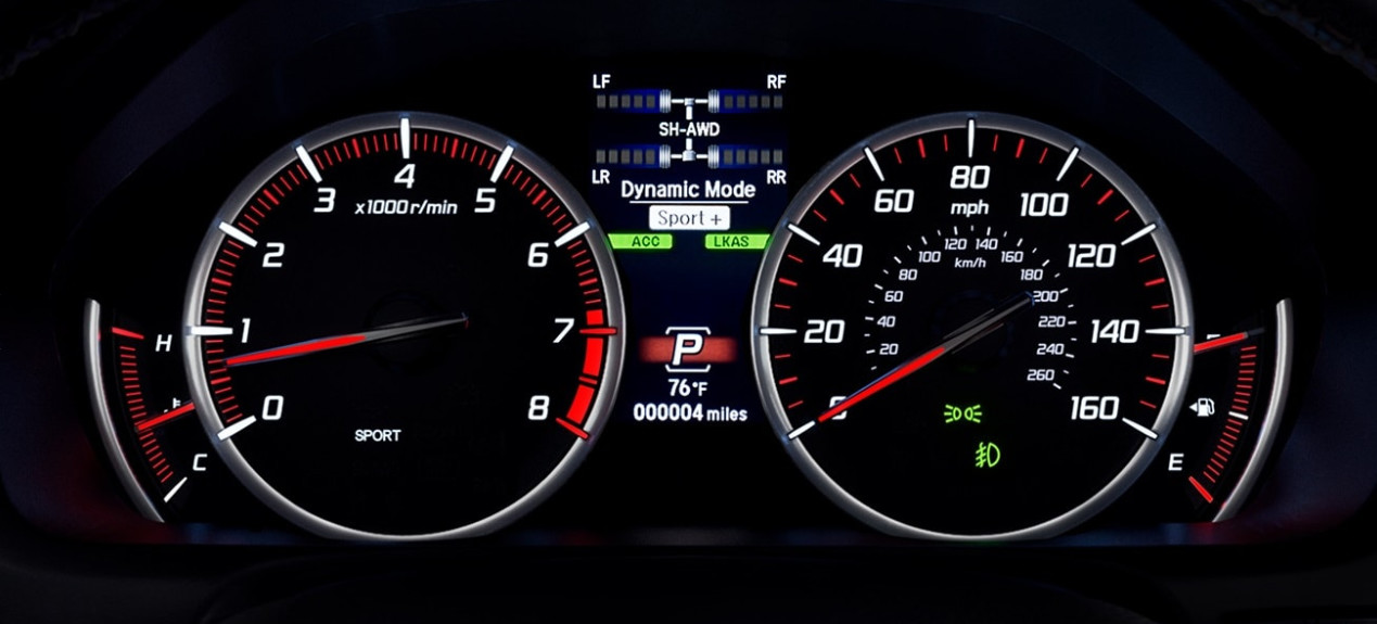 Safety Alerts in the 2020 TLX