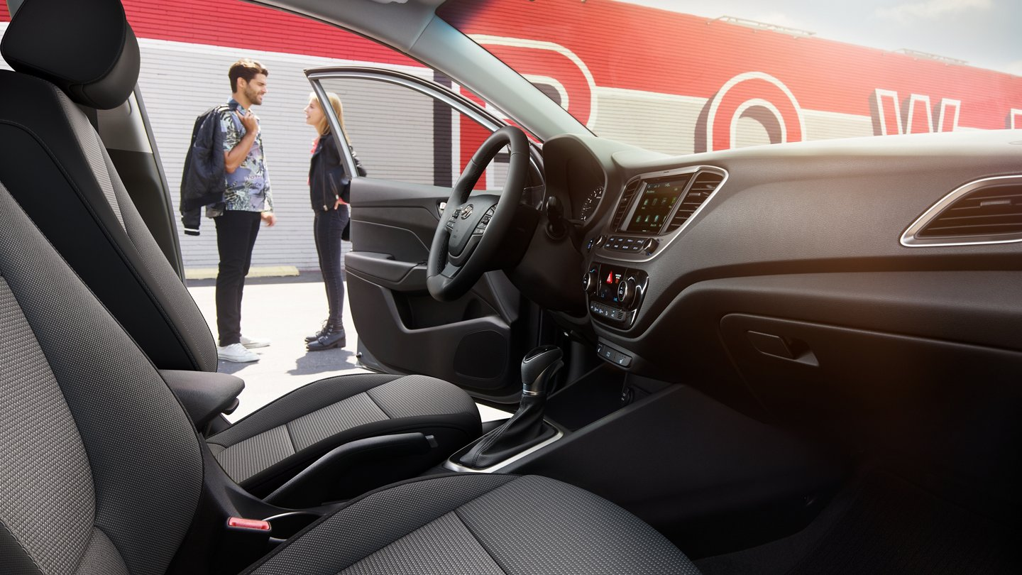 Interior of the 2020 Hyundai Accent