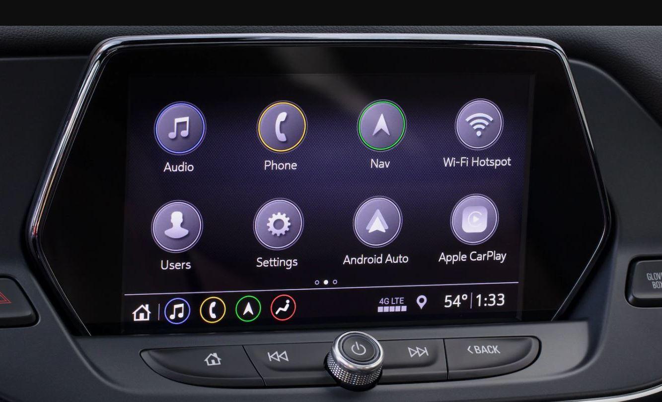 Touchscreen in the 2020 Blazer