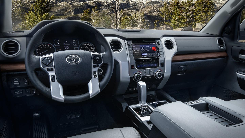 Interior of the 2020 Toyota Tundra