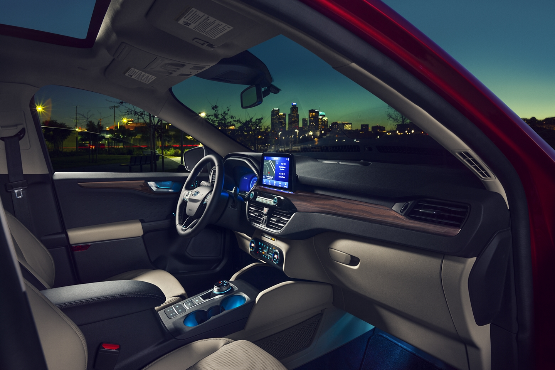 Interior of the 2020 Ford Escape