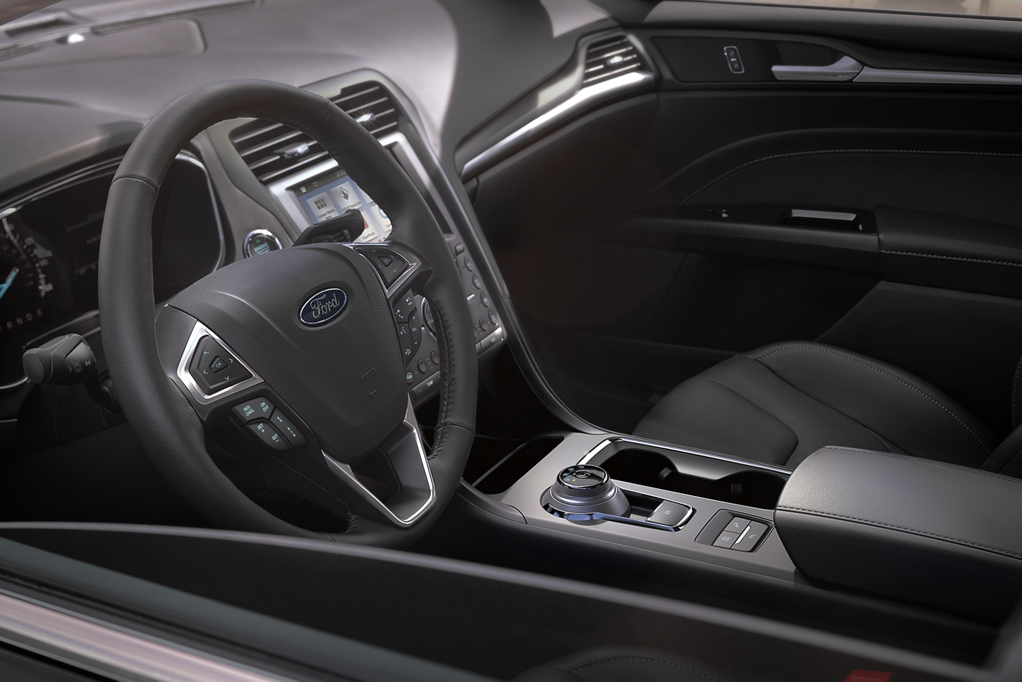 2020 Ford Fusion Leather-Wrapped Steering Wheel
