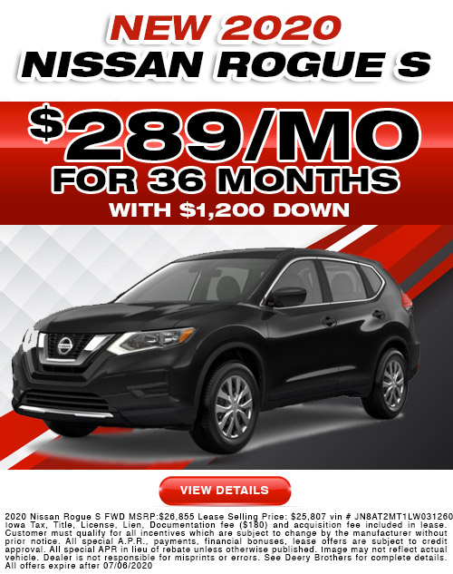 Nissan Rogue Lease Offer