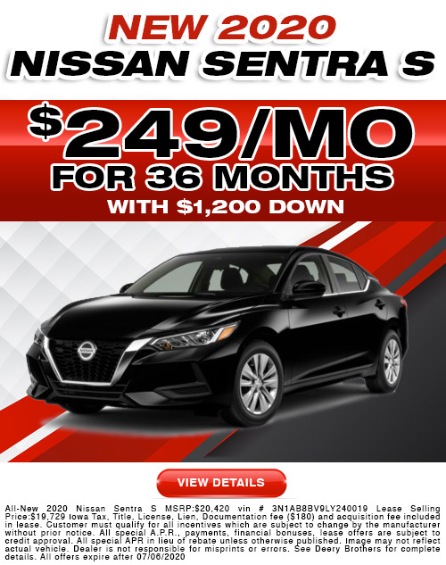 Nissan Sentra S Lease offer