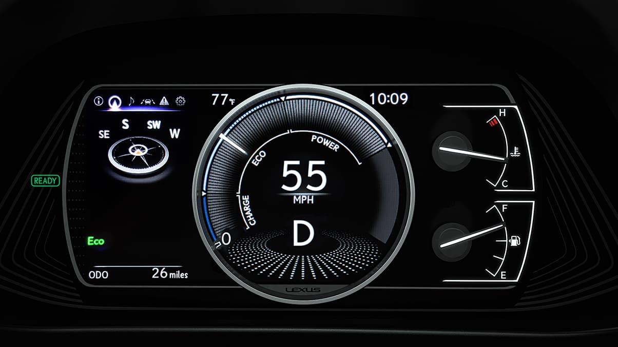 Digital Display in the 2020 UX 250h