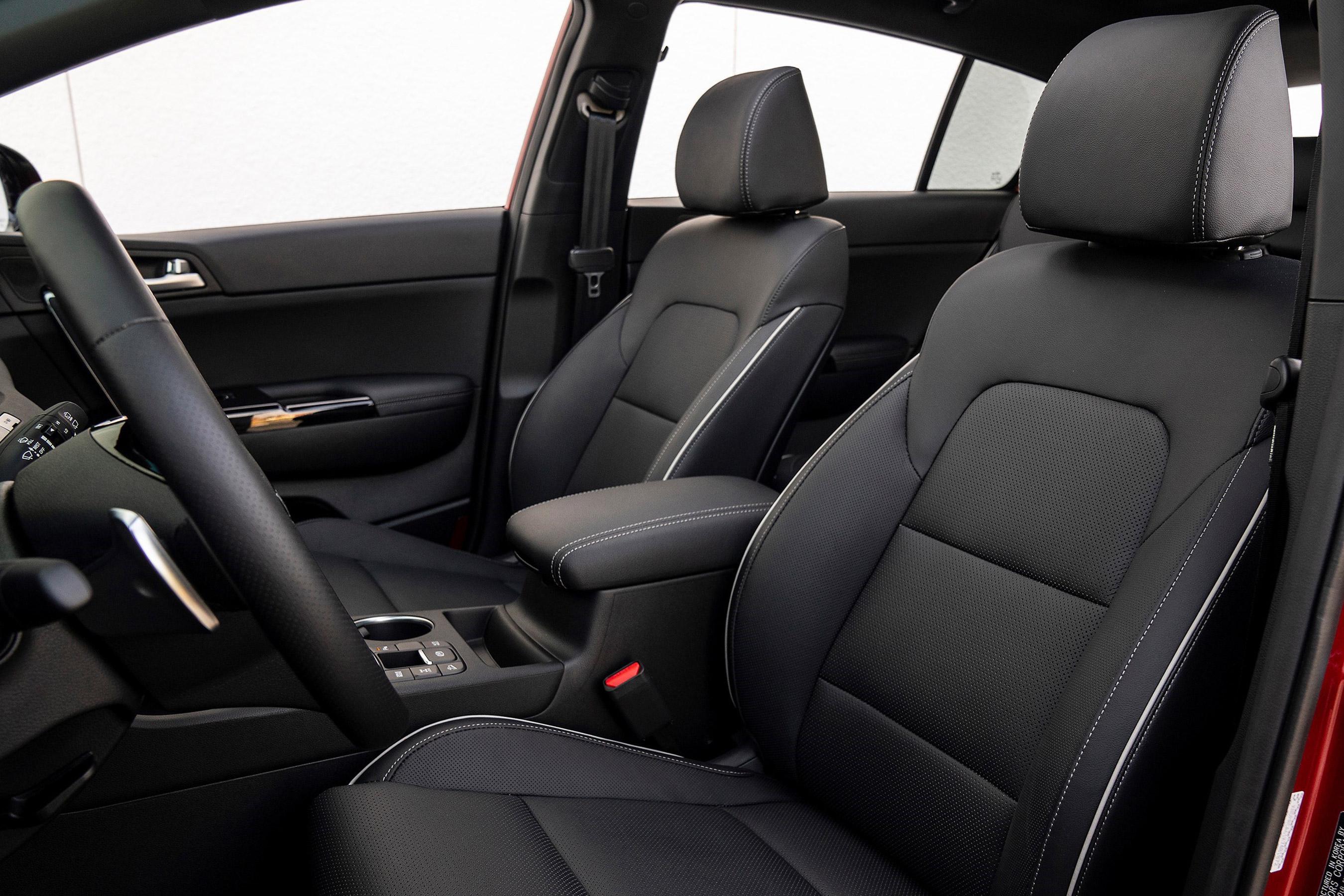 Interior of the 2020 Kia Sportage