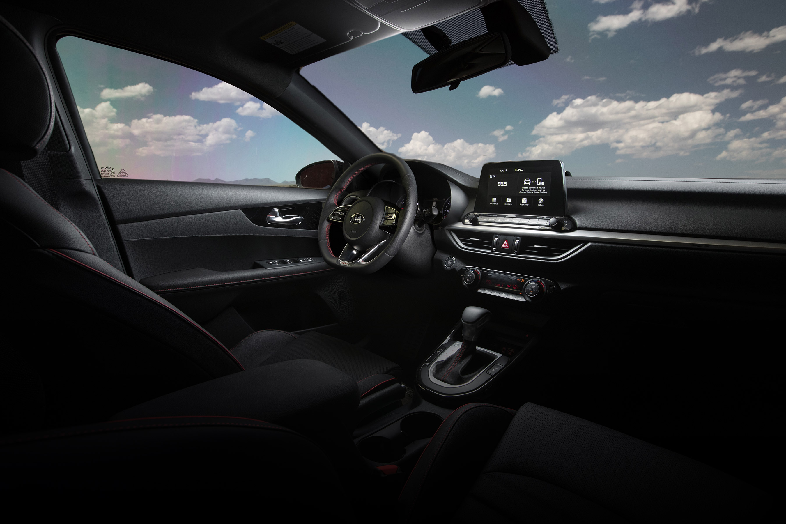 Interior of the 2020 Kia Forte