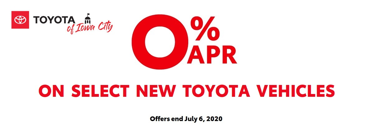 0% APR Financing on Select New Toyota Vehicles June 2020