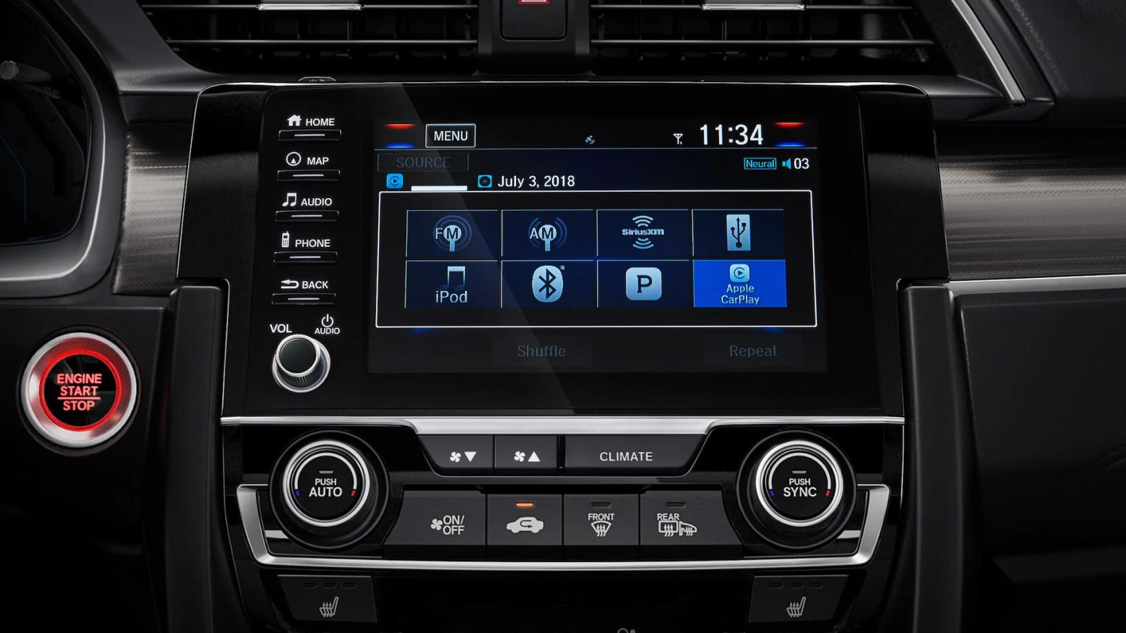2020 Honda Civic Media Hub