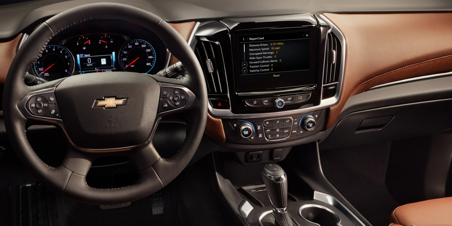 2020 Chevy Traverse Dashboard