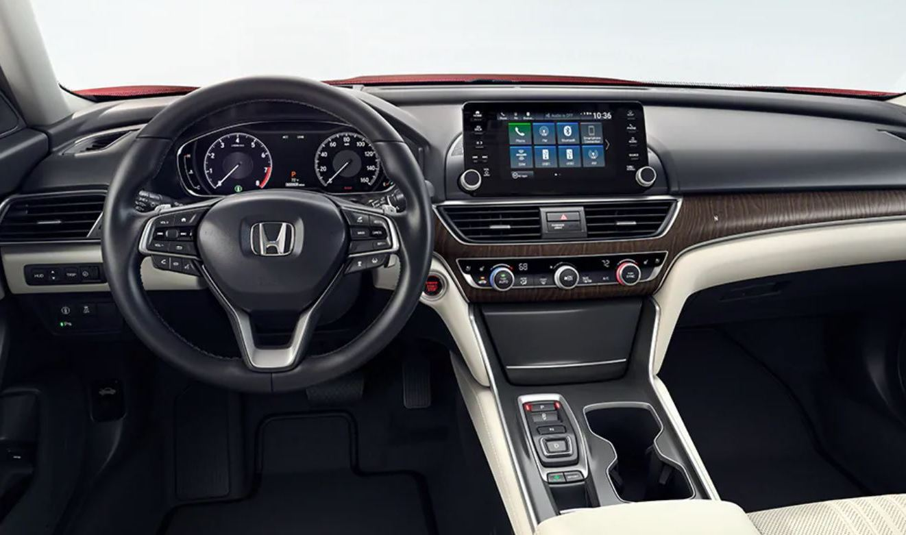 Interior of the 2020 Accord