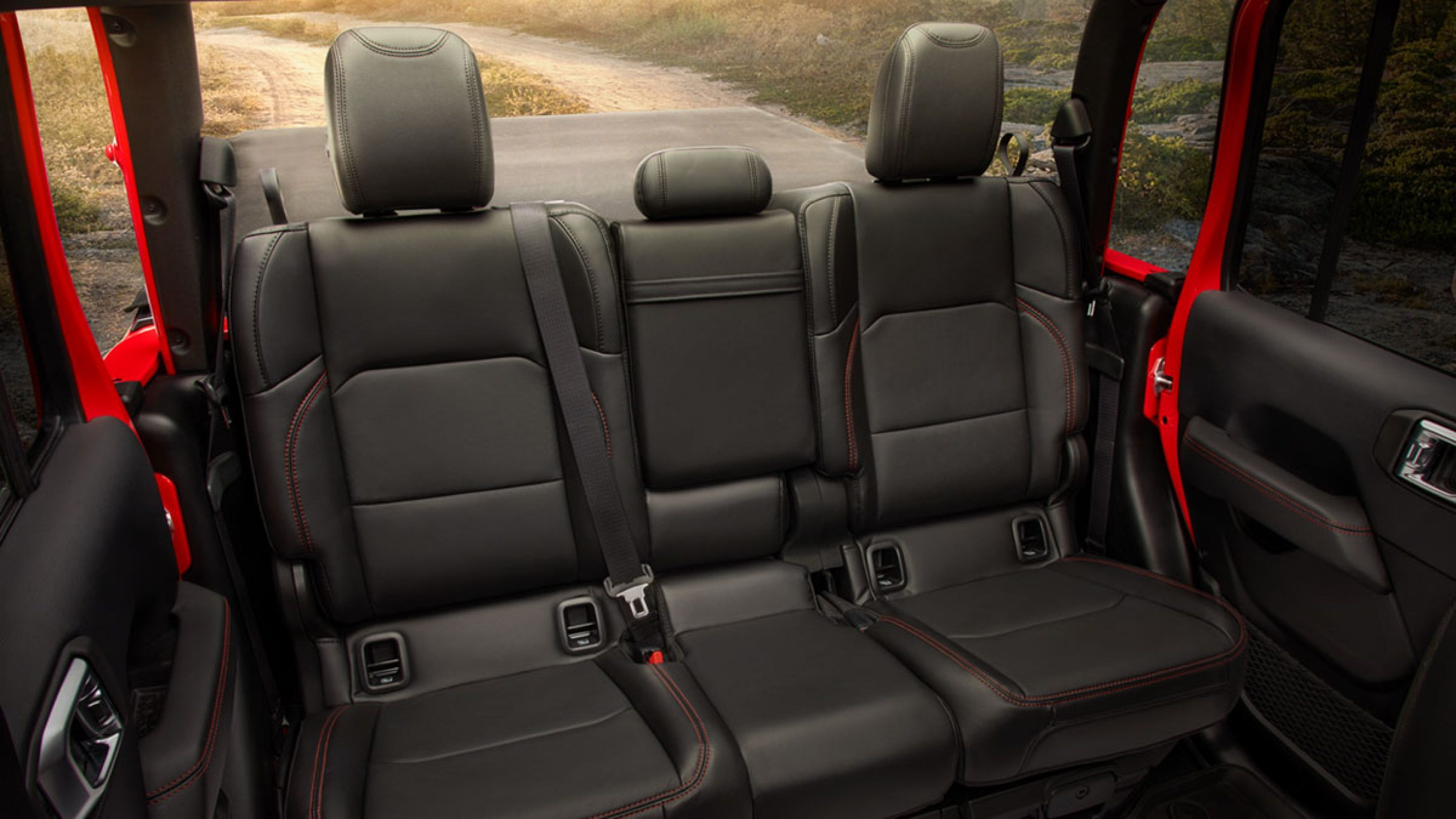 Rear Seats in the 2020 Jeep Gladiator