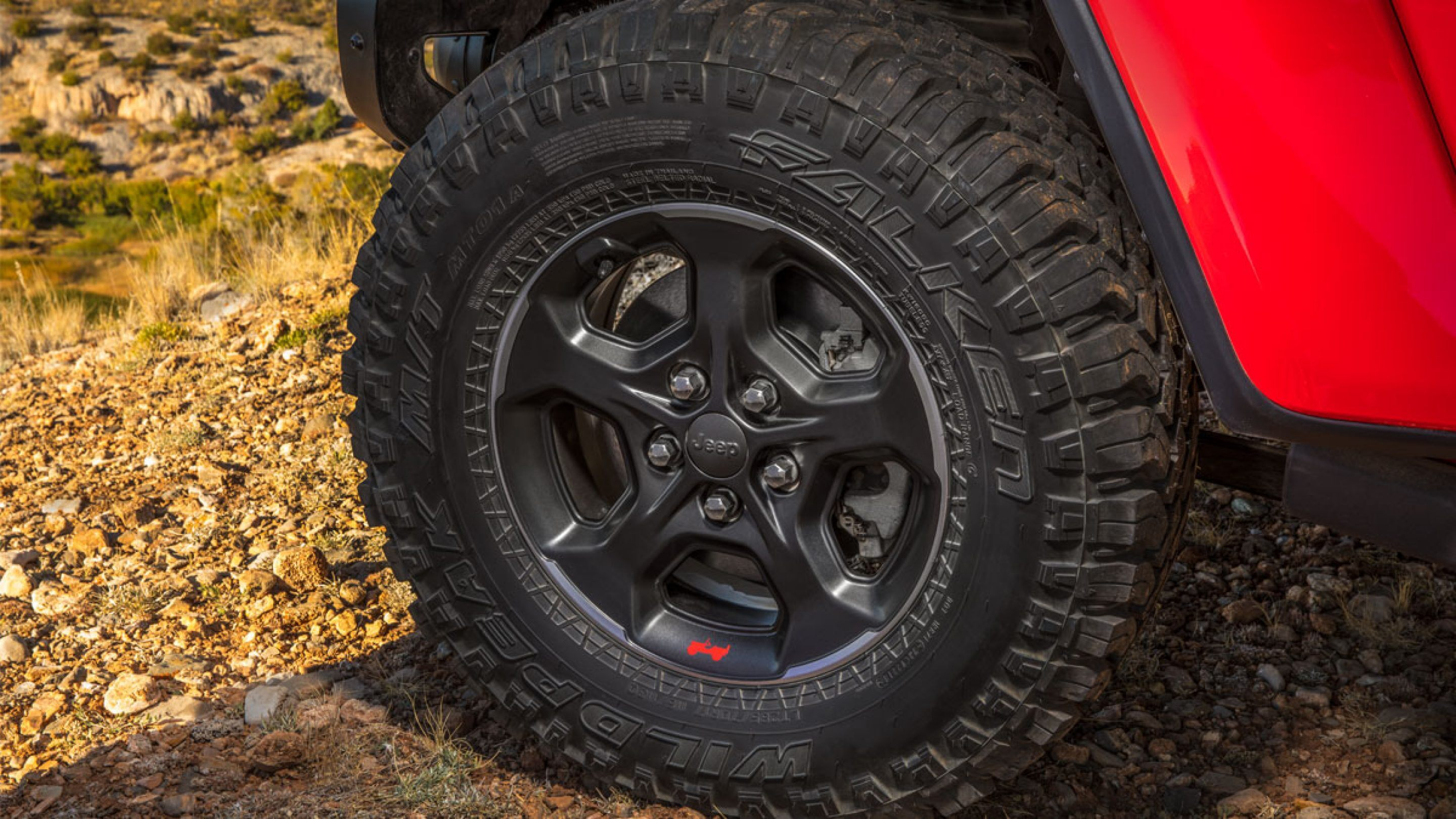 Wheels on the 2020 Jeep Gladiator