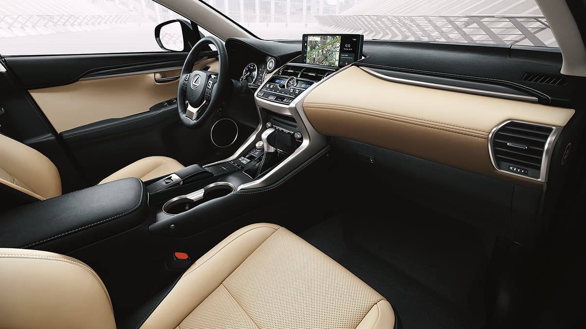 Interior of the 2020 NX 300