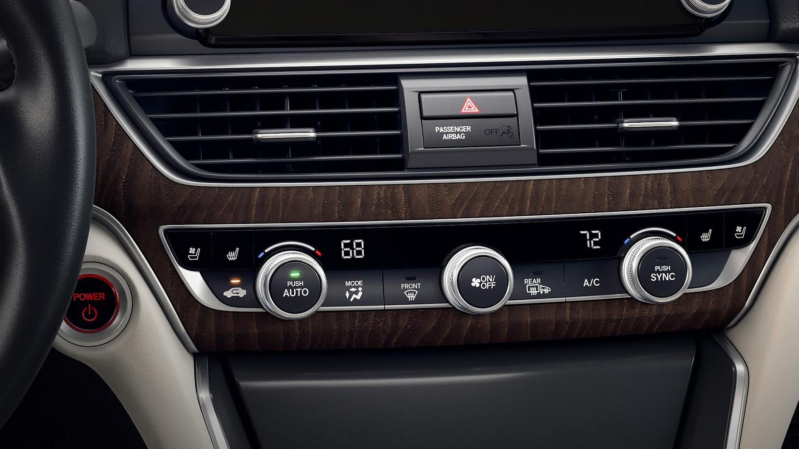2020 Honda Accord Standard Dual-Zone Climate Control