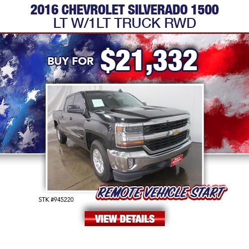 $21,332 Purchase Offer On A Used 2016 Chevrolet Silverado 1500 LT W/1LT Truck RWD