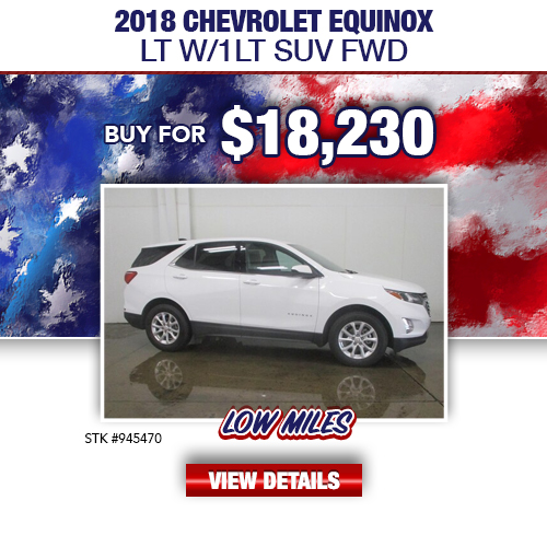 $18,230 Purchase Offer On A Used 2018 Chevrolet Equinox LT W/1LT SUV FWD