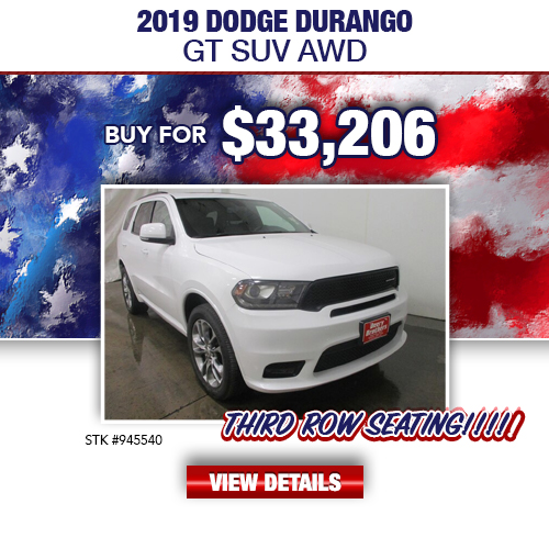$33,206 Purchase Offer On A Used 2019 Dodge Durango GT SUV AWD