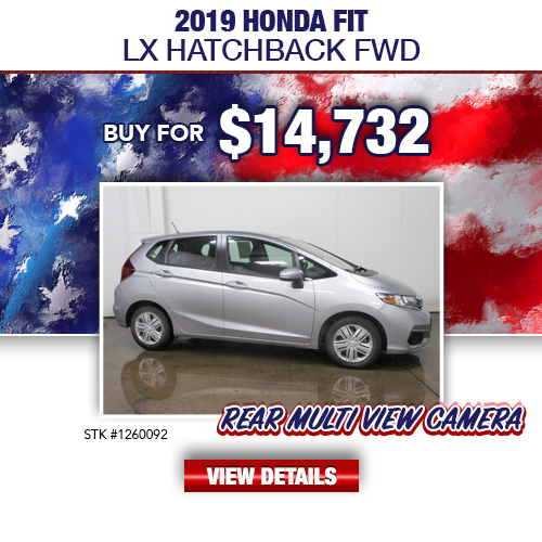 $14,732 Purchase Offer On A Used 2019 Honda Fit LX Hatchback FWD