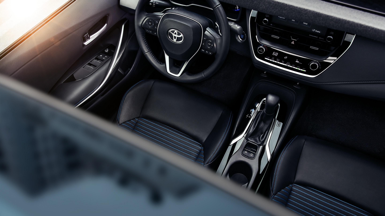Interior of the 2021 Corolla