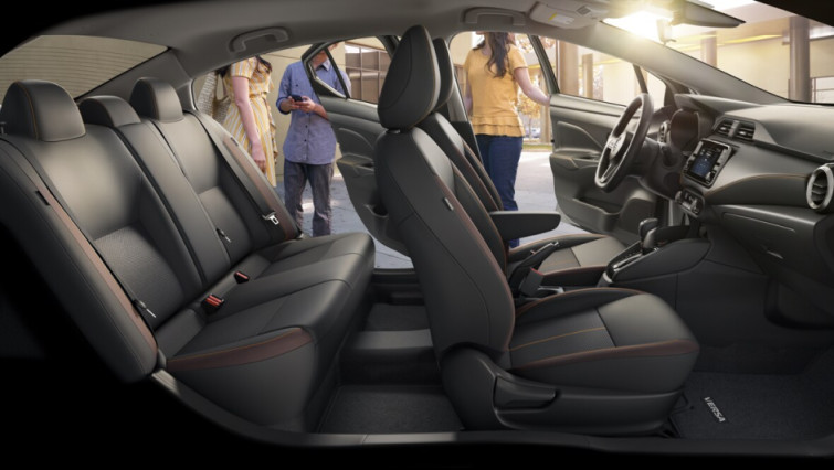 Cabin of the 2020 Nissan Versa