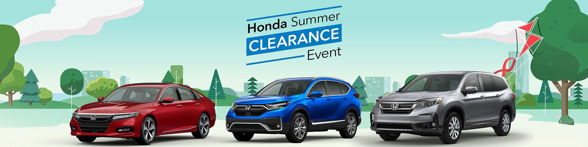 Honda Summer Clearance Event 2020