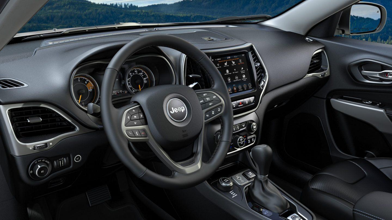 Interior of the 2020 Jeep Cherokee