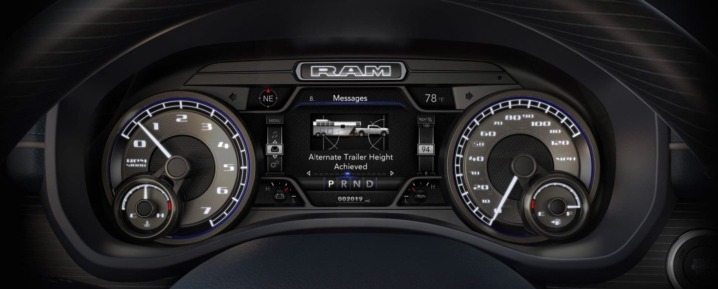 Instrument Cluster in the 2020 Ram 2500