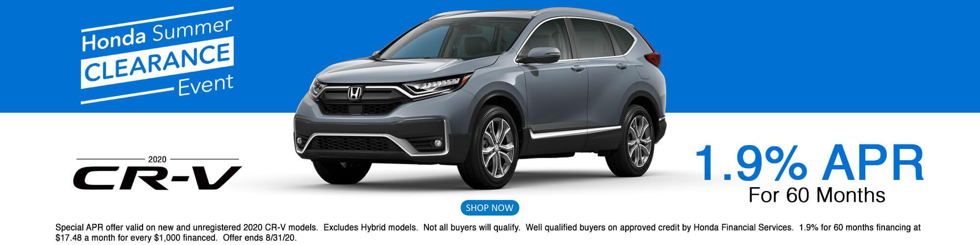 2020 Honda CRV APR Offer