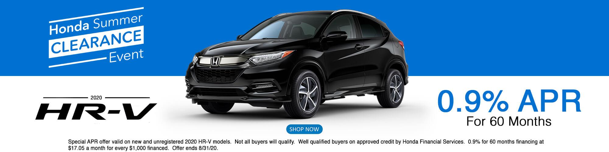 2020 Honda HRV APR Offer