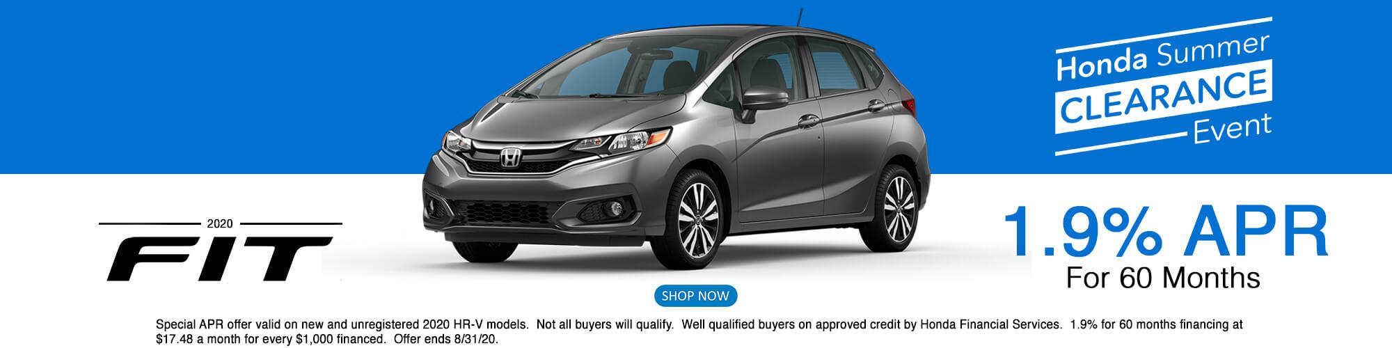 2020 Honda Fit APR Offer