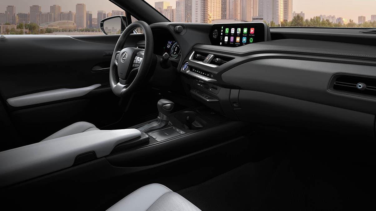 Interior of the 2020 Lexus UX 250h