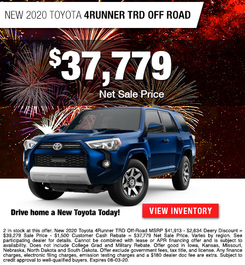 $37,779 Purchase Offer On A New 2020 Toyota 4Runner TRD Off Road